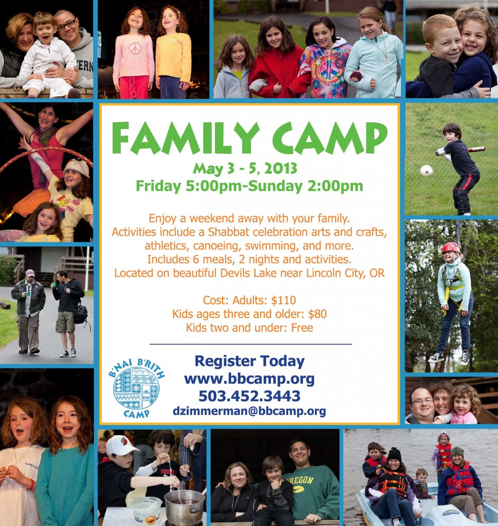 Family Camp Flyer 2013